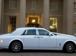 Modern Rolls Royce Phantom wedding hire in Richmond